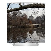 Bows And Arches - New York City Central Park Shower Curtain