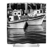 Bows Out Black And White Shower Curtain