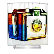 Box Camera Pop Art 3 Shower Curtain