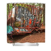 Box Car Graffiti Shower Curtain
