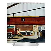 Box Factory Shower Curtain by Edward Hopper