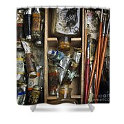 Box Of Painting Shower Curtain