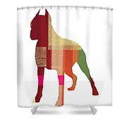 Boxer 2 Shower Curtain by Naxart Studio