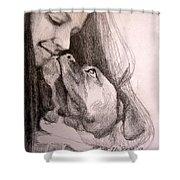 Boxer Kisses Shower Curtain