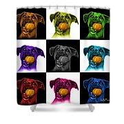 Boxer Mix Dog Art - 8173 - V1 - M Shower Curtain