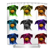 Boxer Mix Dog Art - 8173 - Wb - M Shower Curtain