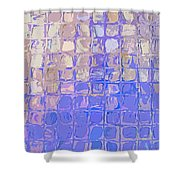 Boxes In Purple And Pink Shower Curtain