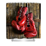 Boxing Gloves - Now Retired Shower Curtain