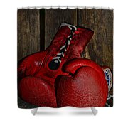 Boxing Gloves Worn Out Shower Curtain by Paul Ward