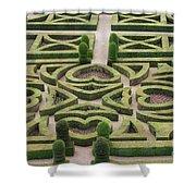 Boxwood Garden - Chateau Villandry Shower Curtain