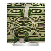 Boxwood Garden - Chateau Villandry Shower Curtain