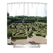 Boxwood Garden Design - Chateau Villandry Shower Curtain