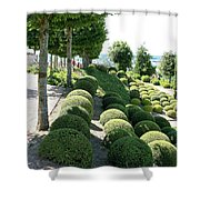 Boxwood Garden Globes Shower Curtain