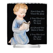 Boy Childs Bedtime Prayer Shower Curtain