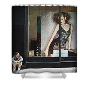 Boy Meets Girl Shower Curtain
