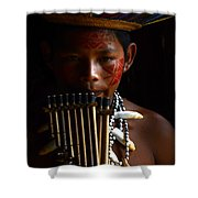 Boy Of The Amazon 3 Shower Curtain