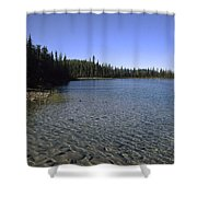 Boya Lake Shower Curtain