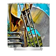 Boyd Plaza Fountain Revisited Shower Curtain
