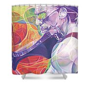 Boyd Tinsley And Circles Shower Curtain