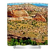 Boynton Overlook On Highway 12 In Grand Staircase-escalante National Monument-utah Shower Curtain