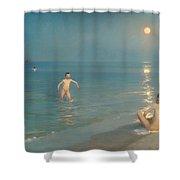 Boys Bathing At Skagen Shower Curtain