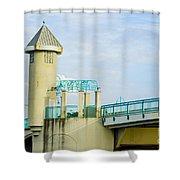 Boyton Beach Bridge Shower Curtain