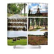 Brabant Collage Shower Curtain