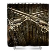 Brace Of Colt Navy Revolvers Shower Curtain