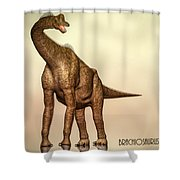 Brachiosaurus Dinosaur Shower Curtain