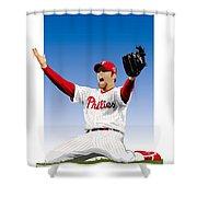 Brad Lidge Champion Shower Curtain