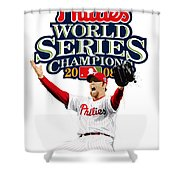 Brad Lidge Ws Champs Logo Shower Curtain