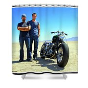 Actor - Brad Pitt With Shinya Kimura Shower Curtain