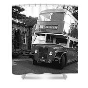 Bradford Bus In Mono  Shower Curtain