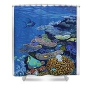 Brain Coral Shower Curtain