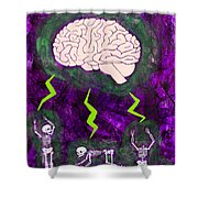 Brain Storm Shower Curtain