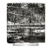 Brainards Bridge After A Snow Storm 3 Shower Curtain