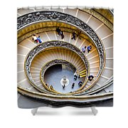Bramante Spiral Staircase In Vatican City Shower Curtain