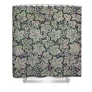 Bramble Wallpaper Design Shower Curtain by Kate Faulkner