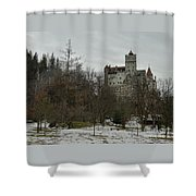 Bran Castle In December Shower Curtain