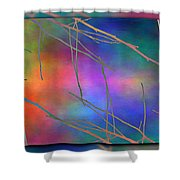 Branches In The Mist 15 Shower Curtain