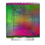 Branches In The Mist 23 Shower Curtain