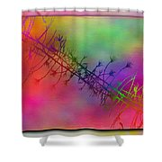 Branches In The Mist 24 Shower Curtain by Tim Allen