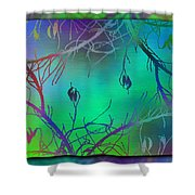 Branches In The Mist 35 Shower Curtain