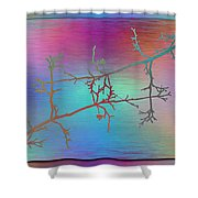 Branches In The Mist 60 Shower Curtain
