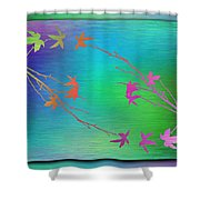 Branches In The Mist 64 Shower Curtain