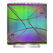 Branches In The Mist 83 Shower Curtain