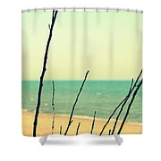Branches On The Beach Shower Curtain