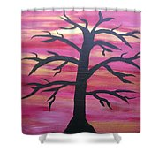 Branching Out Silhouette  Shower Curtain