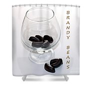 Brandy Beans - Liqueur - Chocolate Shower Curtain