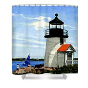 Brant Point Lighthouse Nantucket Massachusetts Shower Curtain